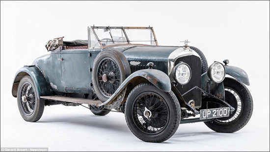 Incredibly Rare 1928 Bentley Car Re Discovered After Over 50 Years